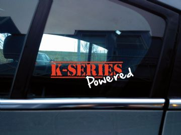 K series powered sticker for classic Rover MG ZR / ZS  / TF ... 120 / 160